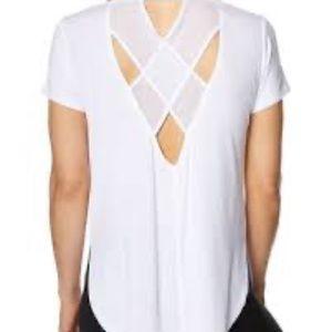 Betsey Johnson Mesh Back Side Cut T-Shirt